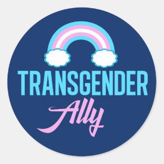 Transgender Ally Classic Round Sticker