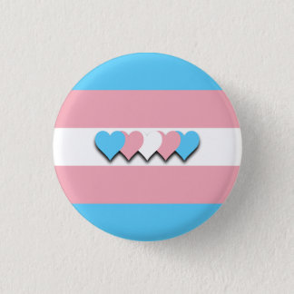 Transgender flag button