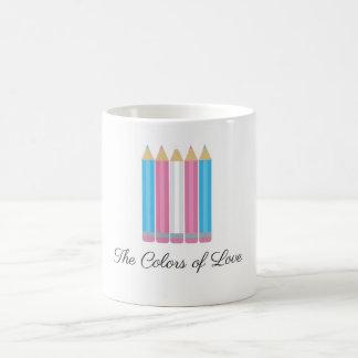 Transgender Flag Colors of Love Coffee Mug