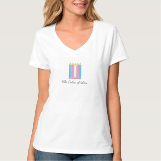 Transgender Flag Colors of Love T-Shirt