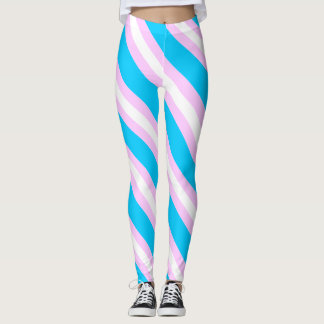 Transgender flag leggings