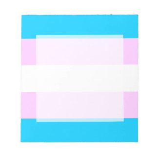 Transgender flag notepad