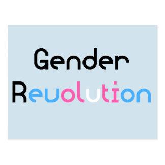 Transgender MTF FTM Ally Awareness Pride Postcard