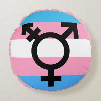 Transgender MTF FTM Awareness Pride Pillow