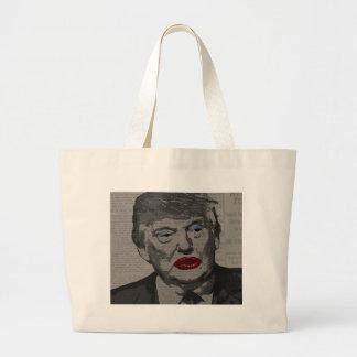 Transgender president large tote bag