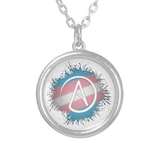Transgender Pride Atheist Silver Plated Necklace