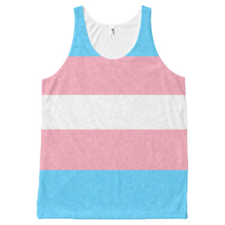Transgender Pride Flag All-Over Print Singlet