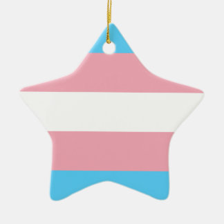 Transgender Pride Flag - LGBT Trans Rainbow Ceramic Ornament