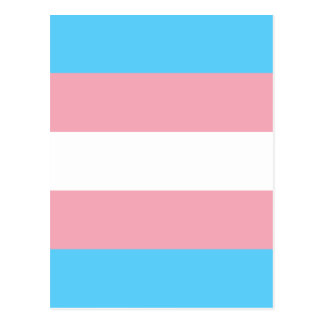 Transgender Pride Flag - LGBT Trans Rainbow Postcard