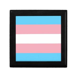 Transgender Pride Flag - LGBT Trans Rainbow Small Square Gift Box