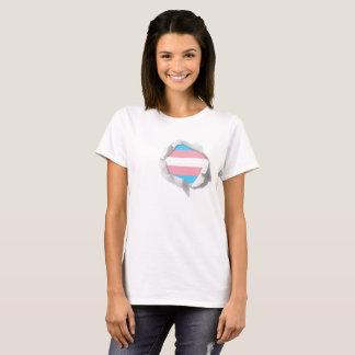 Transgender Pride Flag LGBT True Colors Torn T-Shirt