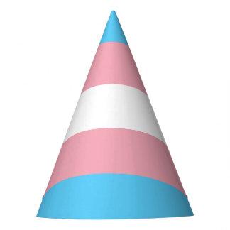 Transgender pride flag party hat