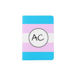 Transgender Pride Flag Passport Holder
