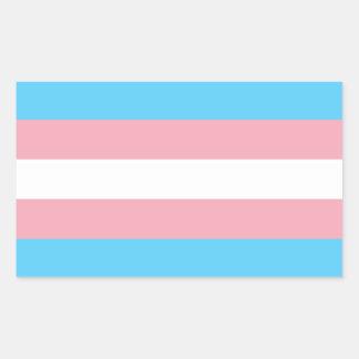 Transgender Pride Flag Rectangular Sticker