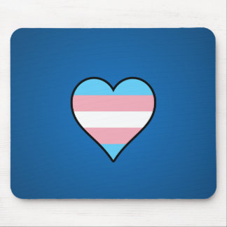 Transgender pride hearts mouse pad
