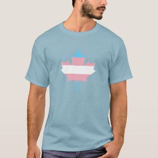 Transgender pride maple leaf T-Shirt