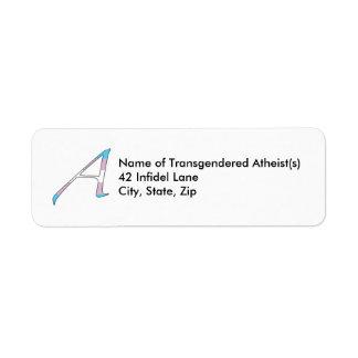 """Transgender Pride """"Scarlet"""" Letter A Labels"""
