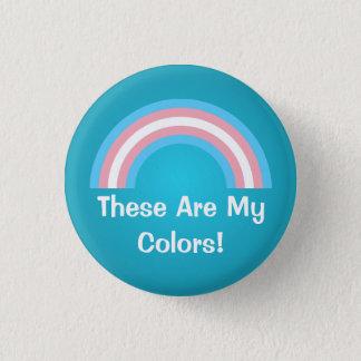 Transgender rainbow pride Button