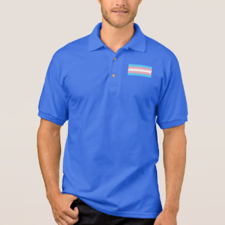 Transgender Trans Pride Flag Small Emblem Polo Shirt