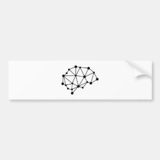 Transhuman Brain - Cyborg Geek Bumper Sticker