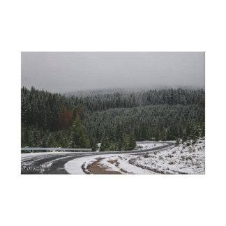 Transilvanian Winter Landscape Canvas Print
