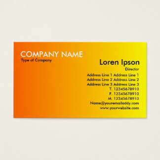 Transition - Orange to Yellow Business Card