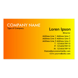 Transition - Orange to Yellow Pack Of Standard Business Cards