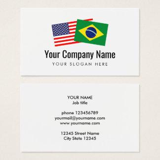 Translation Brazilian Portuguese American English Business Card