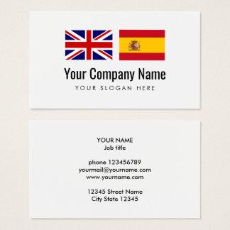 Translation services Engish Spanish translator Business Card