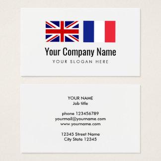 Translation services English French translator Business Card