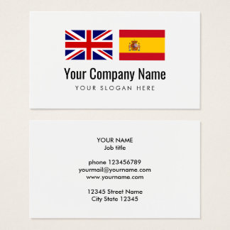 Translation services English Spanish translator Business Card