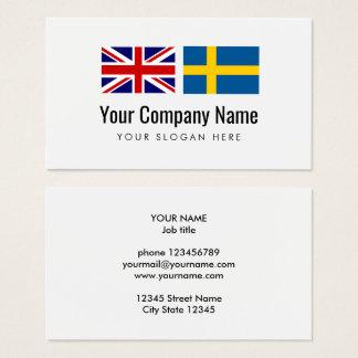 Translation services English Swedish translator Business Card