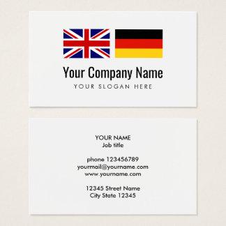 Translation services German English translator Business Card