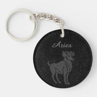 Translucent Aries Key Ring