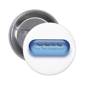 Translucent button in blue button badge name tag