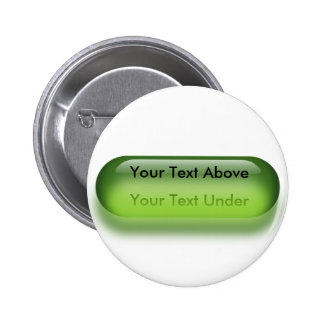 Translucent button in green button badge name tag