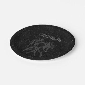 Translucent Gemini Paper Plate