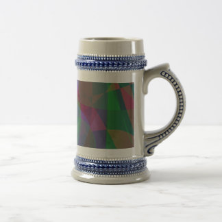 Translucent Layers Dark Green Abstract Beer Steins