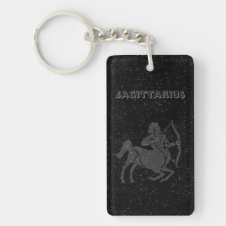 Translucent Sagittarius Key Ring