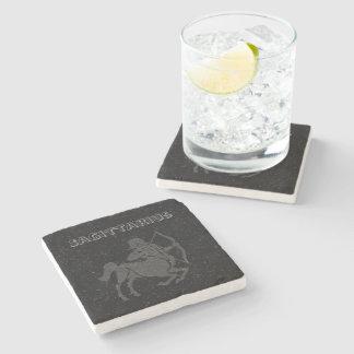 Translucent Sagittarius Stone Beverage Coaster