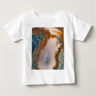 Translucent Teal & Rust Agate Baby T-Shirt