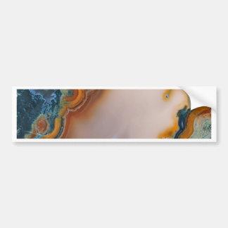 Translucent Teal & Rust Agate Bumper Sticker