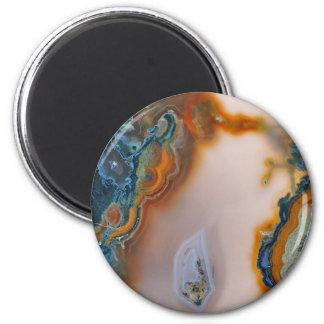 Translucent Teal & Rust Agate Magnet