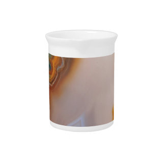 Translucent Teal & Rust Agate Pitcher