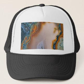 Translucent Teal & Rust Agate Trucker Hat