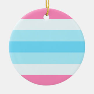transmasculine flag ceramic ornament