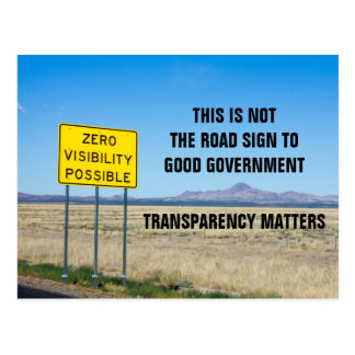 Transparency in Government Matters Postcard