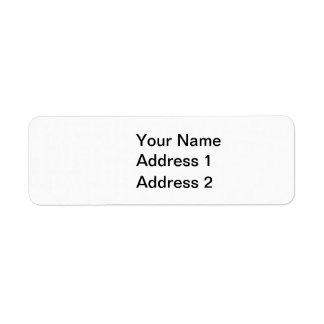 Transparent and White Houndstooth Return Address Label