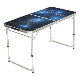 Transparent Aquarius Beer Pong Table