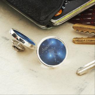 Transparent Aquarius Lapel Pin
